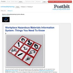 Workplace Hazardous Materials Information System: Things You Need To Know