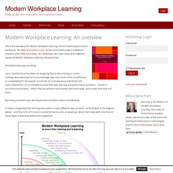 Modern Workplace Learning: An overview
