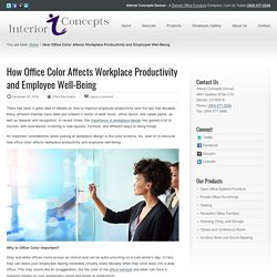 How Office Color Affects Workplace Productivity - Interior Concepts