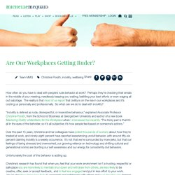 Are Our Workplaces Getting Ruder?