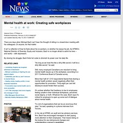 Mental health at work: Creating safe workplaces