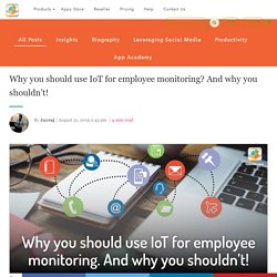 IoT business solutions in workplaces empowers employee productivity