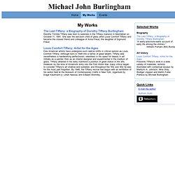 My Works - Michael John Burlingham