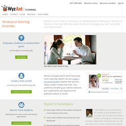 Learn More About Tutoring with WyzAnt