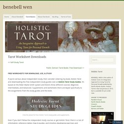 Tarot Worksheet Downloads