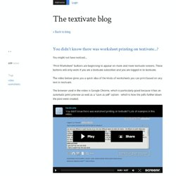 You didn't know there was worksheet printing on textivate...? - The textivate blog