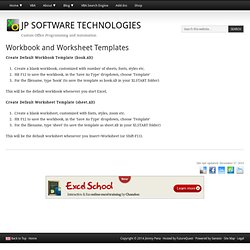 Workbook and Worksheet Templates
