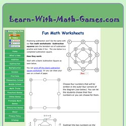 Fun Math Worksheets for Use in the Classroom or at Home that Students Love.