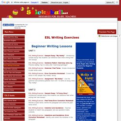ESL Writing Worksheets, Lessons, Sample Essays, Error Correction, and Printable Ebooks