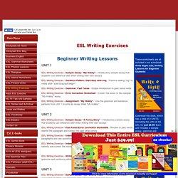 ESL Writing Worksheets, Lessons, Sample Essays, Error Correction, and Printable Ebooks