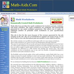 Math Worksheets | Printable Math Worksheets for Various Math Topics