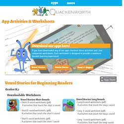 Get app worksheets and activities for our educational apps!