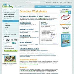 Grammar Worksheets for Elementary School - Printable & Free