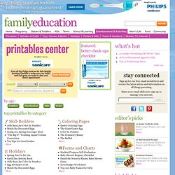 Printable Activities, Games, Puzzles, Worksheets & Coloring Sheets - FamilyEducation.com