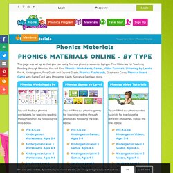 Materials for Teaching Reading through Phonics, Worksheets, Games, Videos, Listening, Flaschards