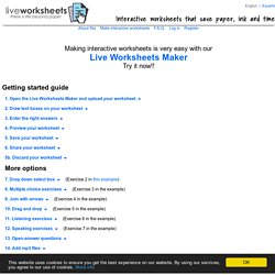 Live Worksheets Maker - Getting started guide