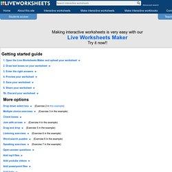 Live Worksheets Maker - Getting started guide