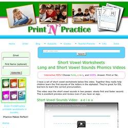 Short Vowel Worksheets for Preschool, Kindergarten, & ESL