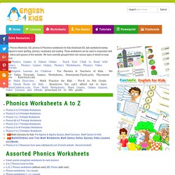 Phonics Worksheets, Phonics Games Online, Phonics Videos, Kindergarten to 2nd grade