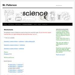 Mr. Patterson