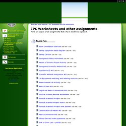 IPC Worksheets and other assignments