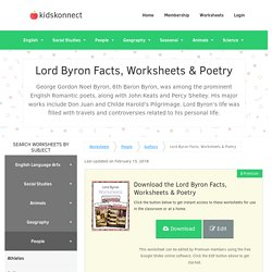 Lord Byron Facts, Worksheets, Poetry & Life Biography For Kids