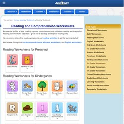 Reading Worksheets Online – Free Printable Reading Worksheets for Kids – JumpStart