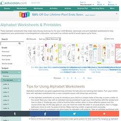 Free Alphabet Worksheets & Printables