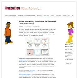 Special Education - Special Education Resources