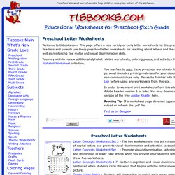 Free Preschool Letter Worksheets for Teaching Letter Recognition