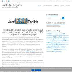 Free ESL EFL worksheets for teachers and adult learners