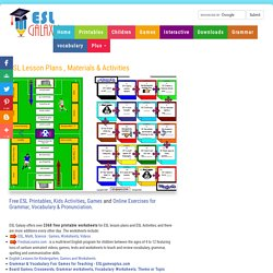 Free ESL Worksheets, English Teaching Materials, ESL Lesson Plans