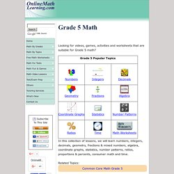 Grade 5 Math (with worksheets, videos, games & activities)