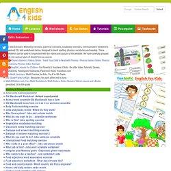 ESL Kids Worksheets, Grammar, Vocabulary, Spelling Worksheets