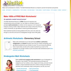 Make Math Worksheets! « Math Worksheet Wizard
