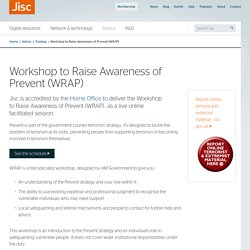 Workshop to Raise Awareness of Prevent (WRAP)
