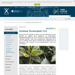 """Workshop """"Devenir plante"""" à l'X"""