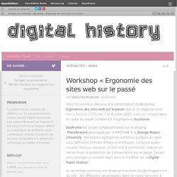 Workshop «Ergonomie des sites web sur le passé – L'histoire au numérique
