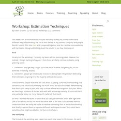 Workshop: Estimation Techniques