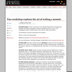Free workshop explores the art of writing a memoir