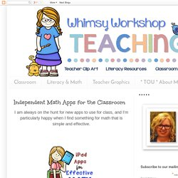 Independent Math Apps for the Classroom