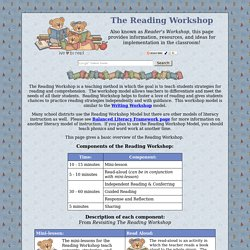 Reading Workshop - Information, ideas, and resources from Busy Teacher's Cafe