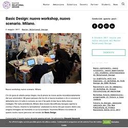 Basic Design: nuovo workshop, nuovo scenario. Milano. - Master Relational Design