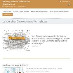 Leadership Development and Team Building Workshops