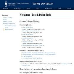 Workshops - Data & Digital Tools