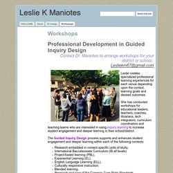 Workshops - Leslie K Maniotes