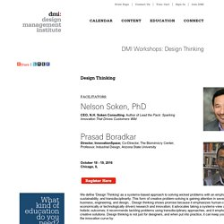 DMI Workshops: Design Thinking