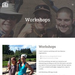 Workshops — Niche Consulting