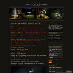 Group Workshops – Light Painting the Still Life