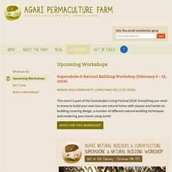 Upcoming Workshops - Agari Permaculture Farm